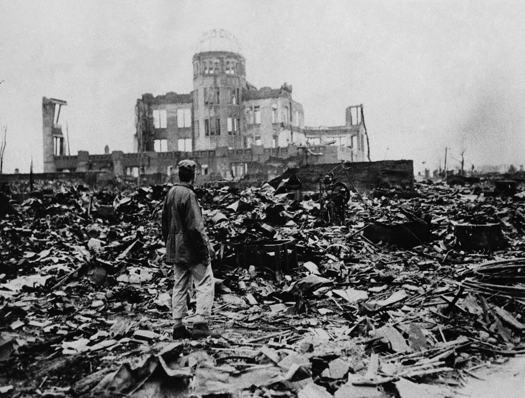 the devastation of the atomic bombing of japan by the us in 1945 For years debate has raged over whether the us was right to drop the two atomic bombs on japan during the final weeks of the second world war atomic bomb damage in hiroshima, 1945 (photo by hulton archive/getty images) a view of the devastation caused by the atomic bomb that was dropped on.