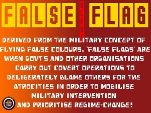 Instant War = False Flag Black Ops + Government Media Propaganda.