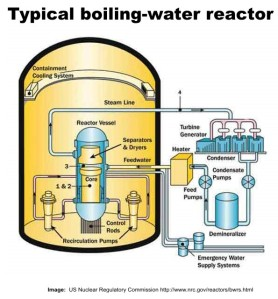 Typical Nuclear Boiling Water Reactor