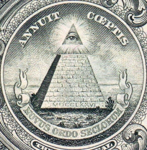 "Novus ordo seclorum (Latin for ""New Order of the Ages"")"