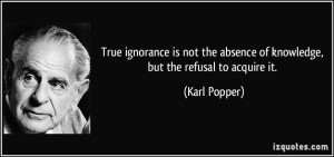 Most of the 'Current Ignorance' Is Feigned. The Facts Are Available, But For Those That Will NOT See.