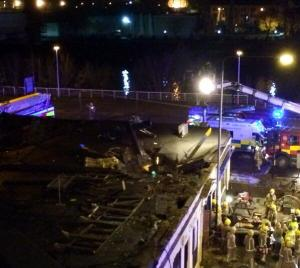 Glasgow Police Copter Embedded in Bar
