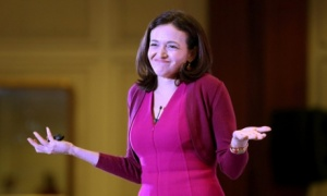 Facebook COO Sheryl Sandberg in India