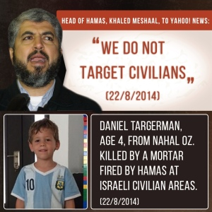 Between Hamas and Israel History There is Absolutely No Doubt Who Targets Civilians