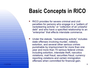 By Definition All Cop Crime Cover Ups Are Rico Conspiracies From Cops to Courts All Criminal Felons